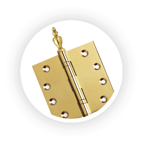 Large selection of door hinges