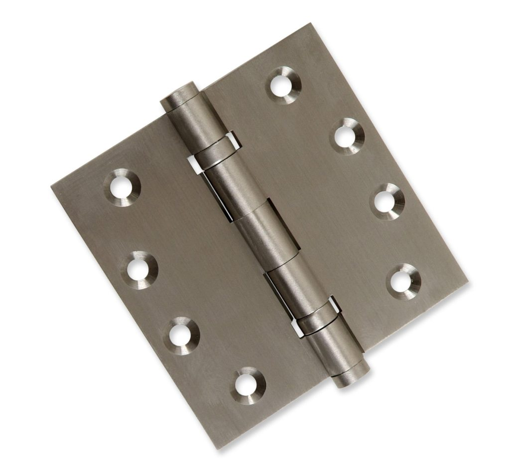 Satin Brass Set of 2 Hinges Architectural Solid Brass Ball Bearing Hinges US4 Ball//Urn//Button Tips Included Finish Stainless Steel Pin 2-Pack Door Hinges 4.5 x 4.5