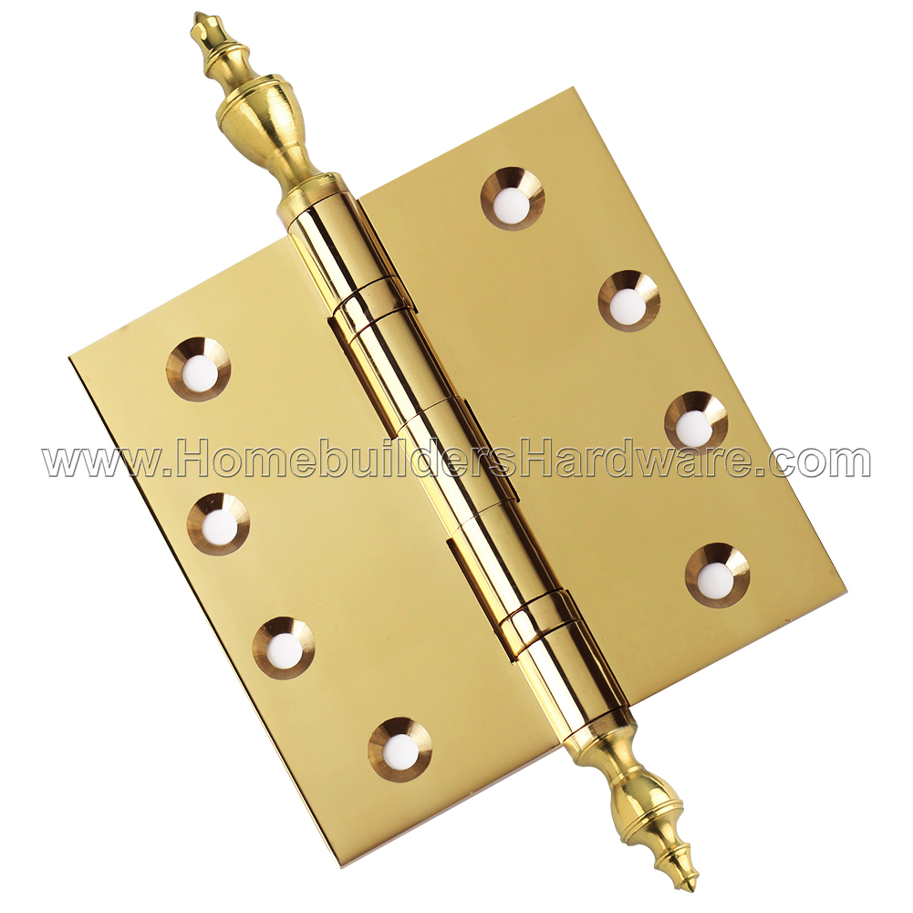 Architectural Grade US19 Stainless Steel Pin Ball//Urn//Button Tips Included Door Hinges 5 x 5 Extruded Solid Brass Ball Bearing Brass Hinge Matte Black Set of 2 Hinges