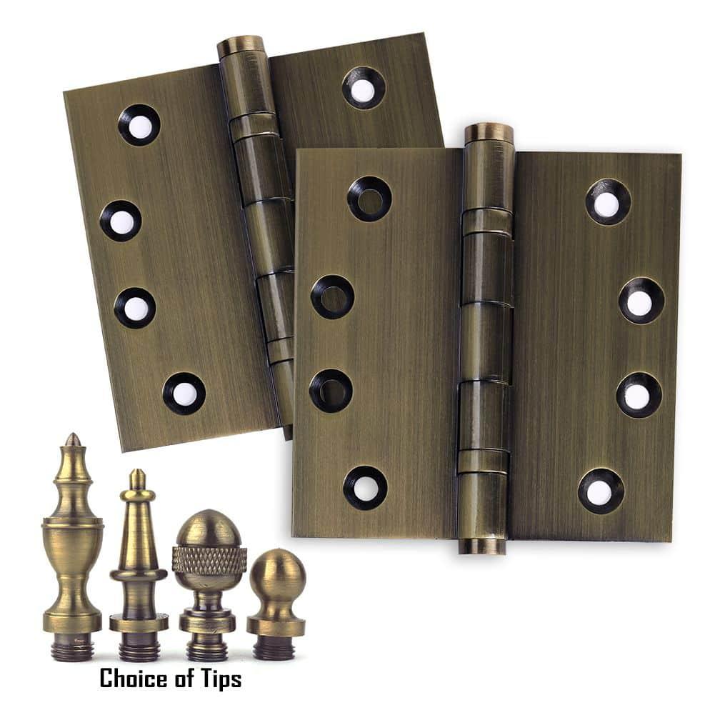 Door Hinge 4 5x4 5 Solid Brass Ball Bearing Antique Brass