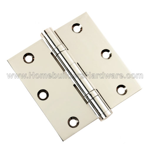 Door Hinges 3.5 x 3.5 Solid Brass Ball Bearing Satin Brass With Tips Set of 3