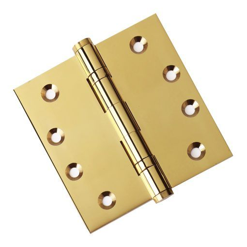 Door Hinge 4.5x4.5 Solid Brass Ball Bearing Polished Brass Baldwin Estate  1046.030 Comparable Architectural Grade (US3)   Set Of 2